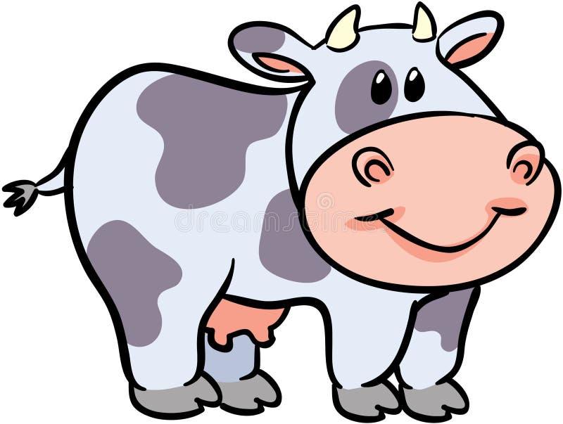 вектор иллюстрации коровы милый иллюстрация вектора