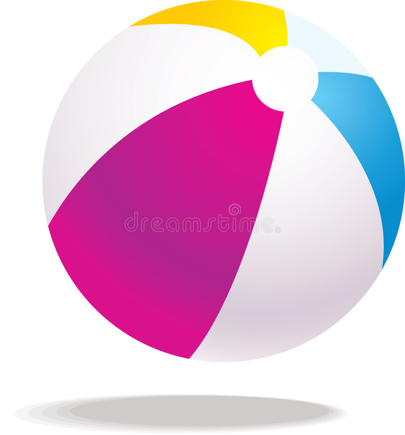 вектор иллюстрации пляжа шарика иллюстрация вектора