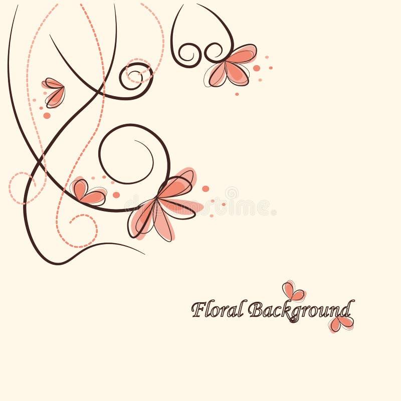 вектор иллюстрации предпосылки милый флористический стоковое изображение rf