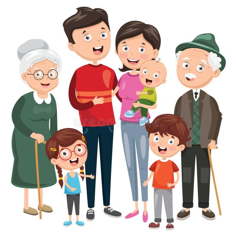 вектор иллюстрации семьи счастливый иллюстрация вектора