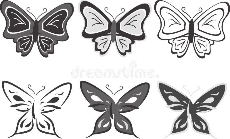 вектор иллюстрации собрания бабочек бесплатная иллюстрация