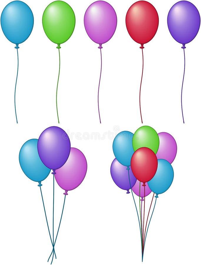вектор иллюстрации цветов воздушного шара бесплатная иллюстрация