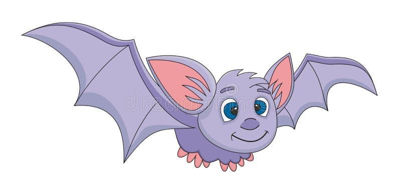 вектор иллюстрации шаржа летучей мыши стоковое изображение