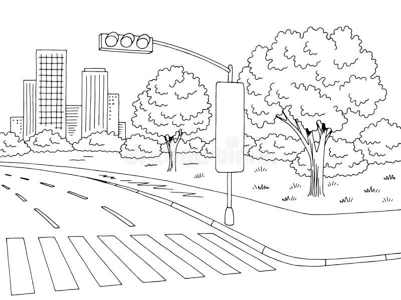 Картинка для раскрашивания дорога