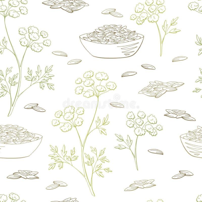 Вектор иллюстрации эскиза предпосылки картины графического цвета завода тимона безшовный бесплатная иллюстрация