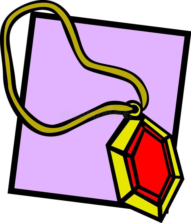 вектор иллюстрации gemstone ворота красный рубиновый иллюстрация штока