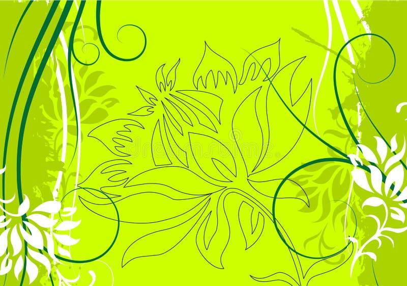 вектор иллюстрации grunge абстрактной предпосылки декоративный флористический иллюстрация штока