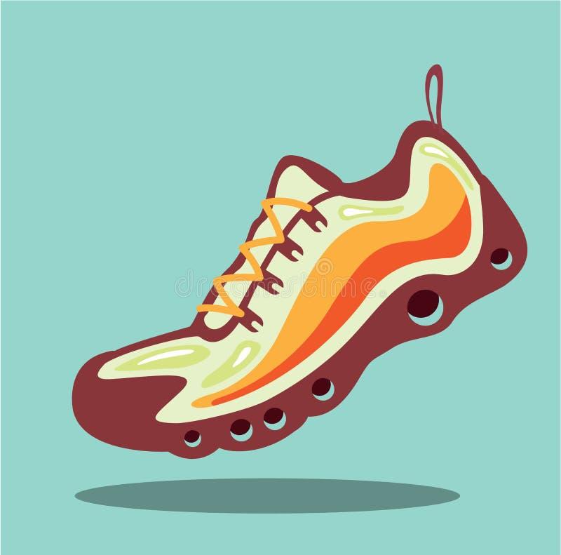 Вектор идущего ботинка спорта иллюстрация штока