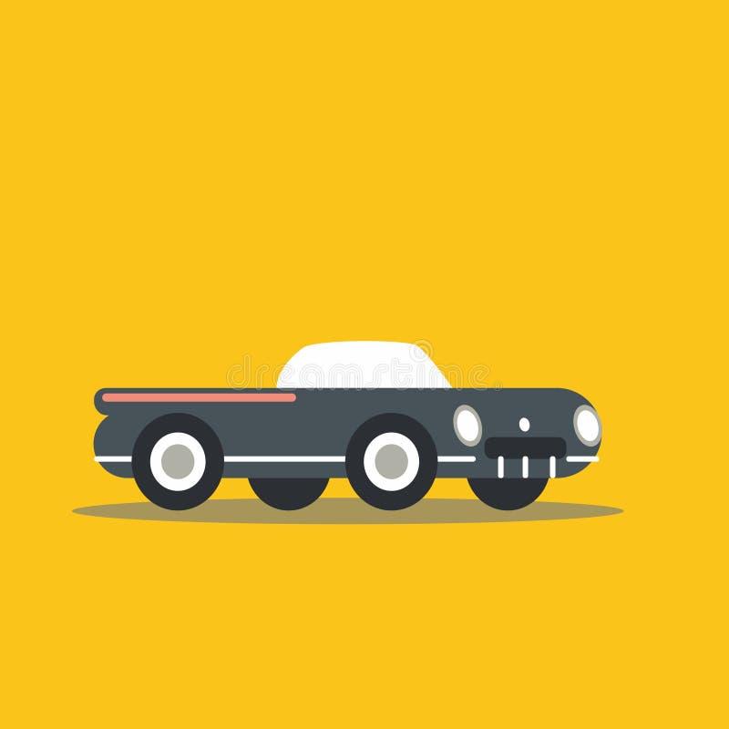 вектор иллюстрации автомобиля ретро стоковые изображения