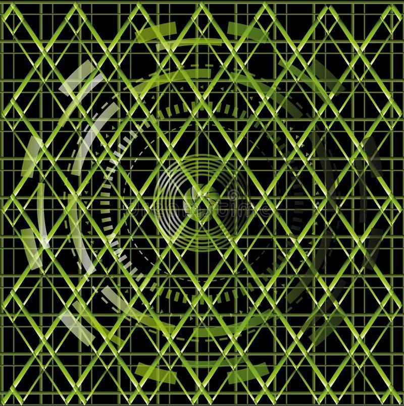 Вектор иллюстрации зеленой предпосылки черноты текстуры технологии бесплатная иллюстрация