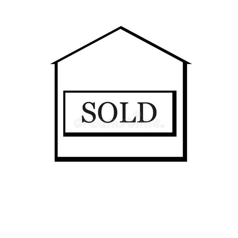 вектор иллюстрации дома имущества реальный проданный иллюстрация штока