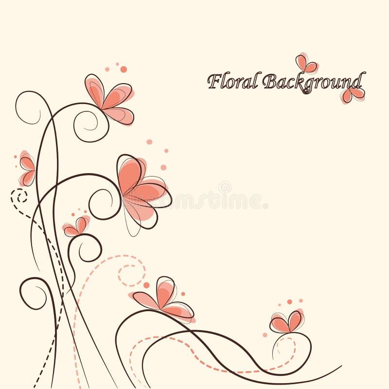 вектор иллюстрации предпосылки милый флористический стоковые фотографии rf