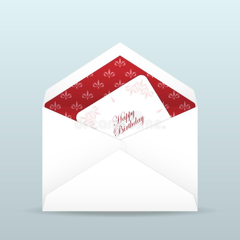 вектор иллюстрации приветствию поздравительой открытки ко дню рождения eps10 иллюстрация штока