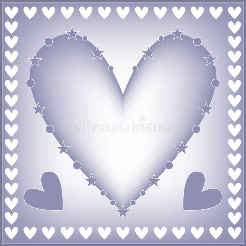 вектор иллюстрации сердца предпосылки романтичный бесплатная иллюстрация