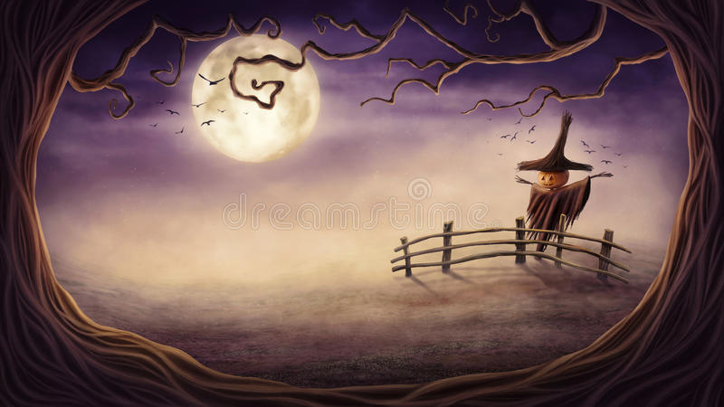 вектор иллюстрации halloween установленный тыквами иллюстрация штока