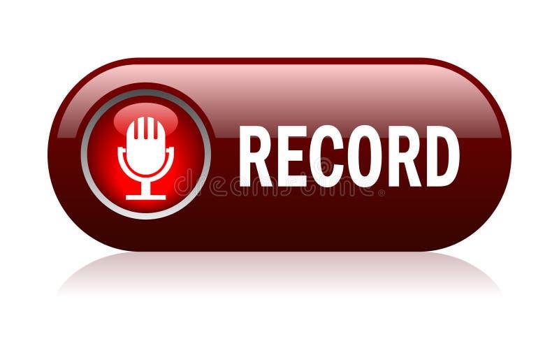 вектор капсюльного микрофона рекордный иллюстрация штока