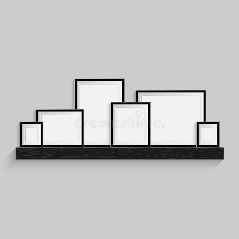 Вектор картинной рамки Художественная галерея фото иллюстрация вектора