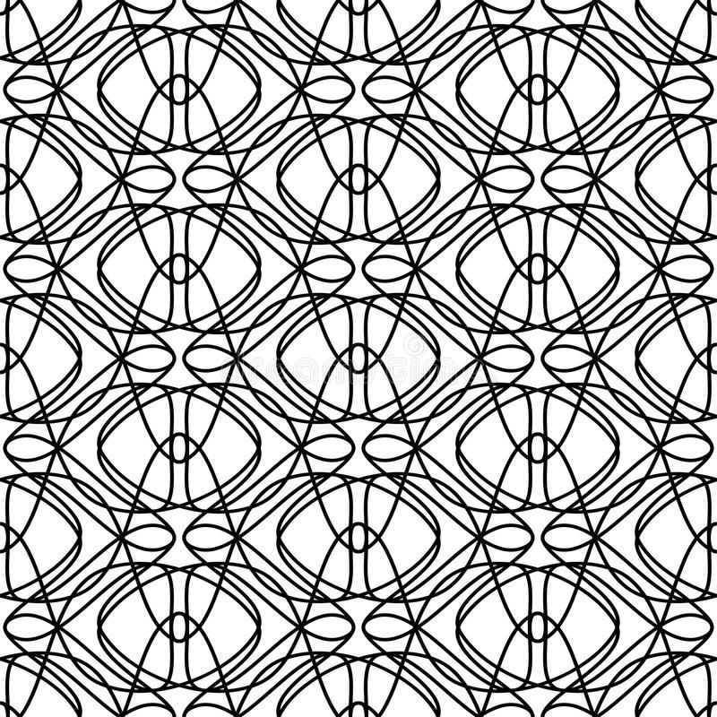 вектор картины безшовный Повторять геометрическую текстуру иллюстрация штока