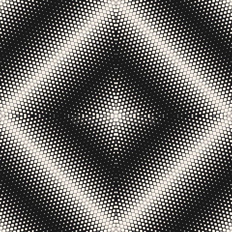 вектор картины безшовный Предпосылка полутонового изображения с радиальным квадратным градиентом бесплатная иллюстрация
