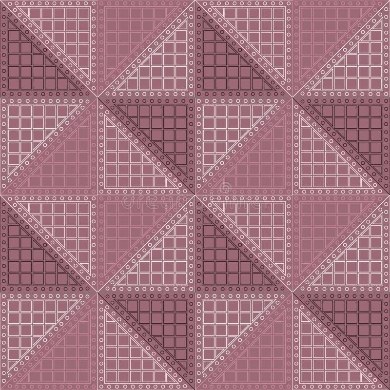 вектор картины безшовный Симметричная геометрическая предпосылка с фиолетовым косоугольником Декоративный повторяя орнамент иллюстрация вектора