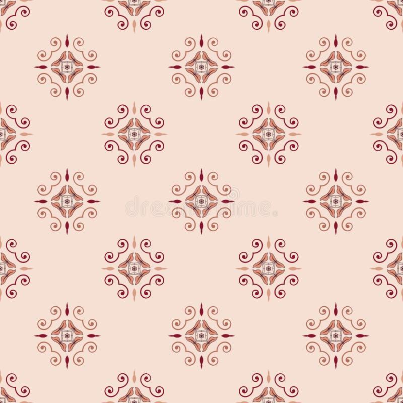 Вектор картины винтажного флористического конспекта геометрический безшовный иллюстрация штока