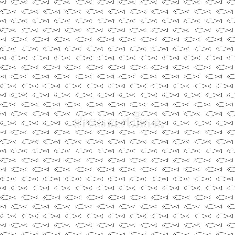 Вектор картины внушительных рыб безшовный иллюстрация штока