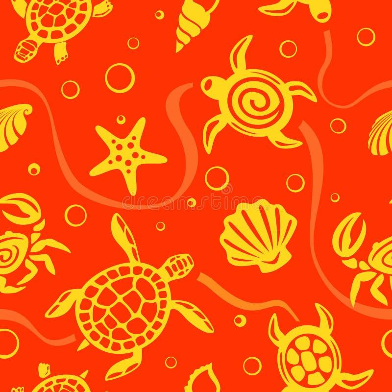 вектор картины пляжа безшовный бесплатная иллюстрация