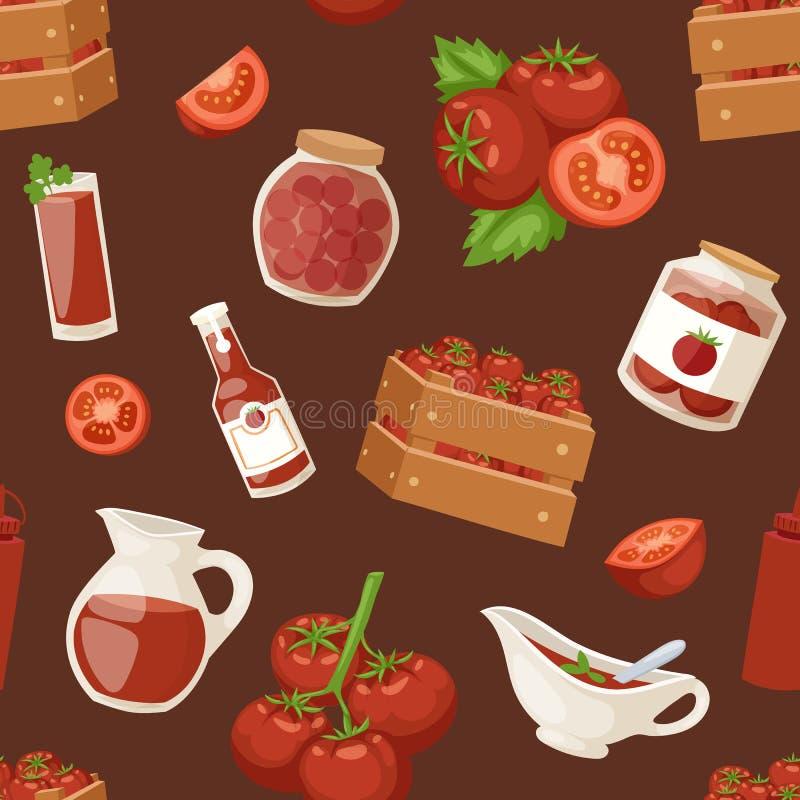 Вектор картины свежего земледелия ингридиента продуктов томата предпосылки органического красного здорового вегетарианского безшо иллюстрация вектора