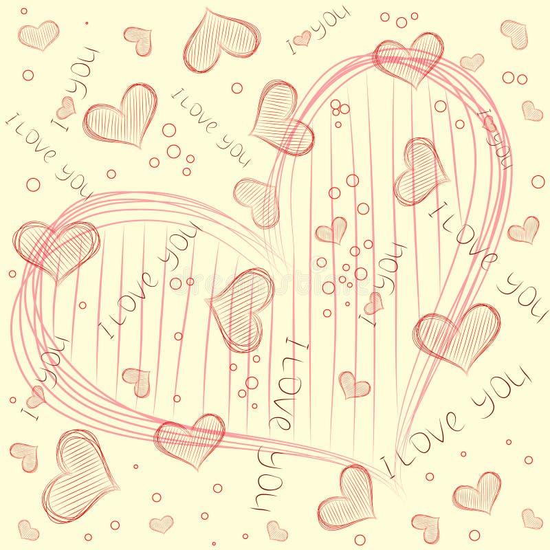 вектор картины сердца иллюстрация вектора