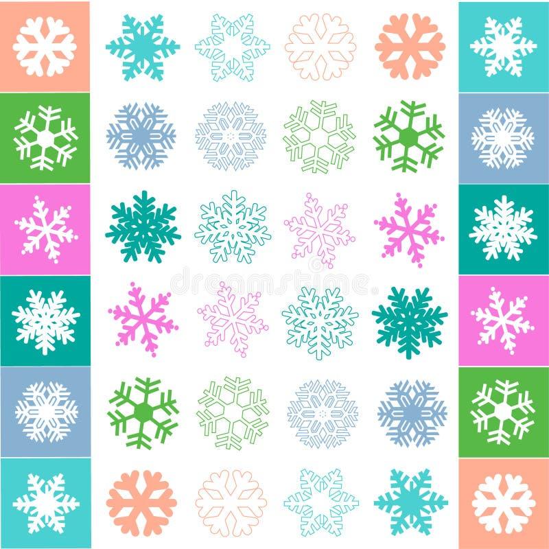 Вектор картины хлопь снега иллюстрация вектора