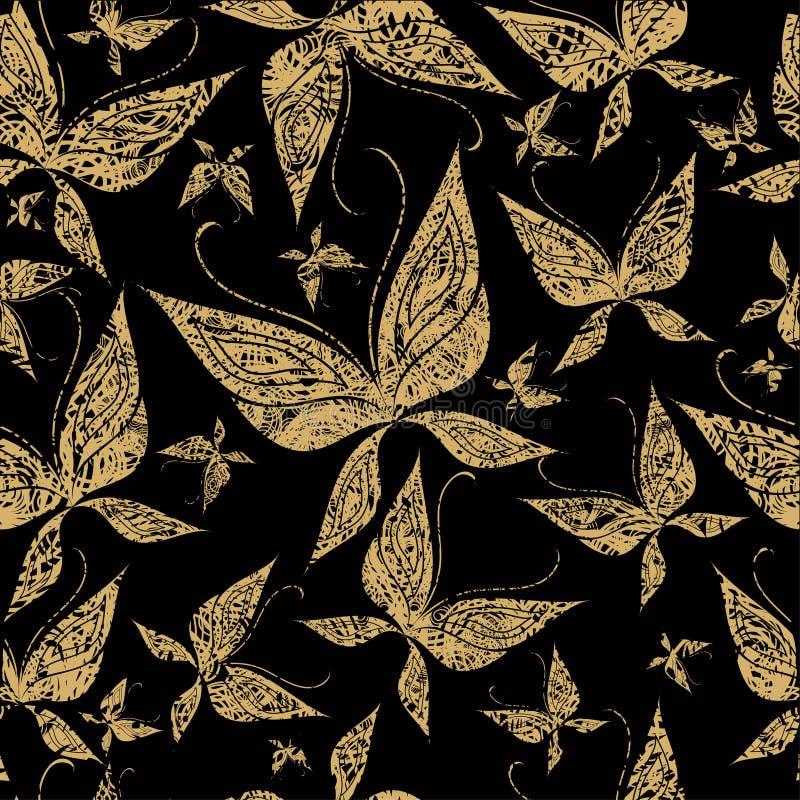 вектор картины grunge бабочки безшовный иллюстрация вектора