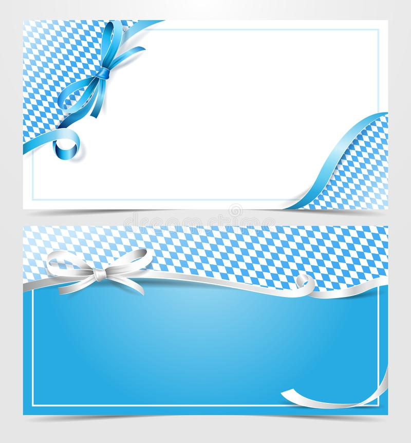 Вектор карточки ленты подарочного сертификата Баварии Oktoberfest иллюстрация вектора