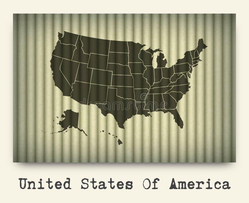 Вектор карты Америки на картоне бесплатная иллюстрация