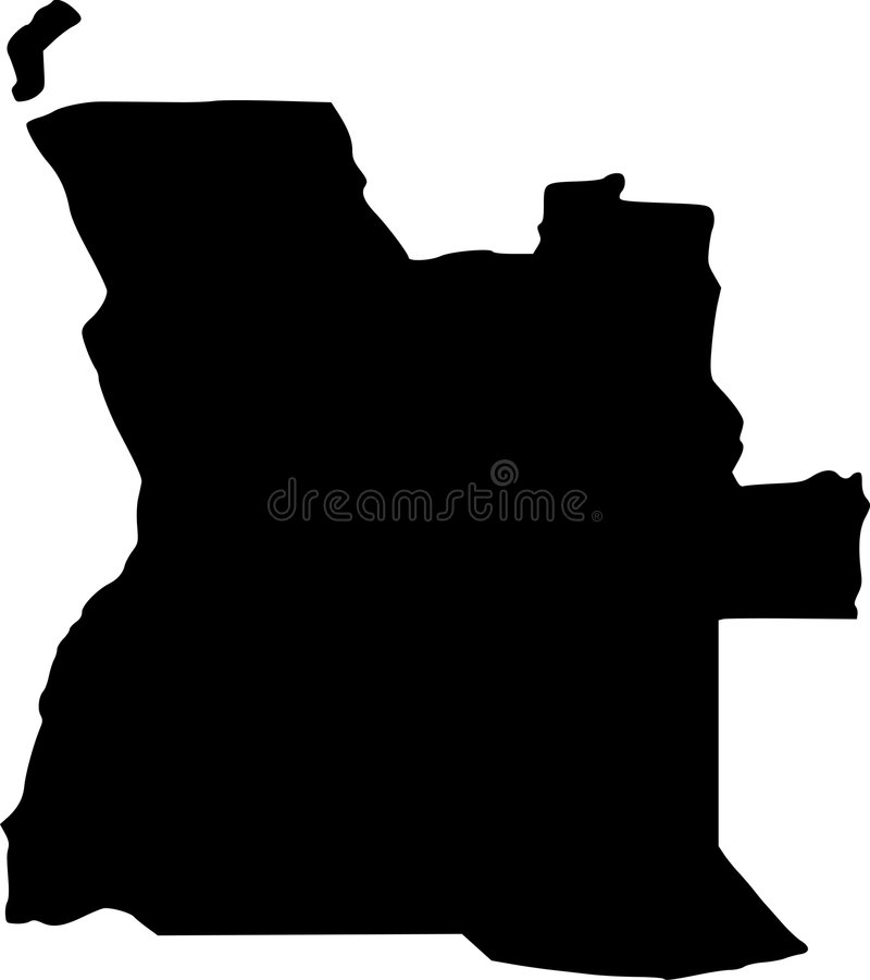 вектор карты Анголы иллюстрация штока