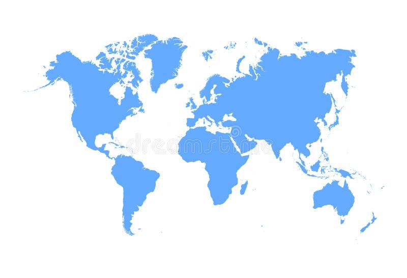 Вектор карты мира изолированный на белой предпосылке Значок worldmap глобуса иллюстрация вектора