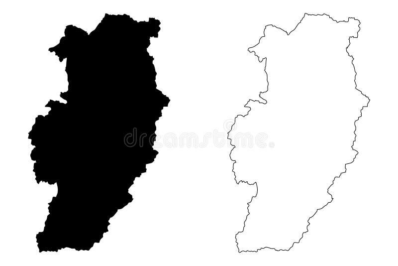 Вектор карты провинции Nan иллюстрация вектора