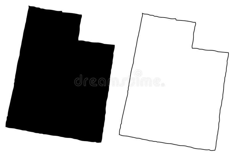 Вектор карты Юты иллюстрация штока