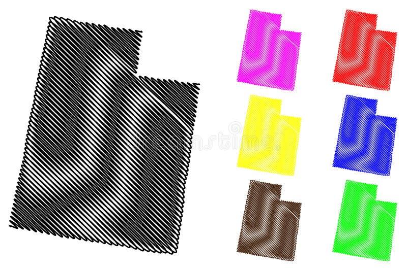 Вектор карты Юты иллюстрация вектора