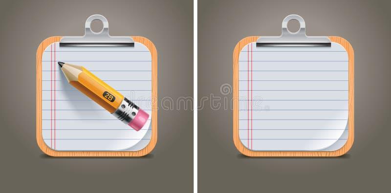 вектор квадрата иконы clipboard бесплатная иллюстрация