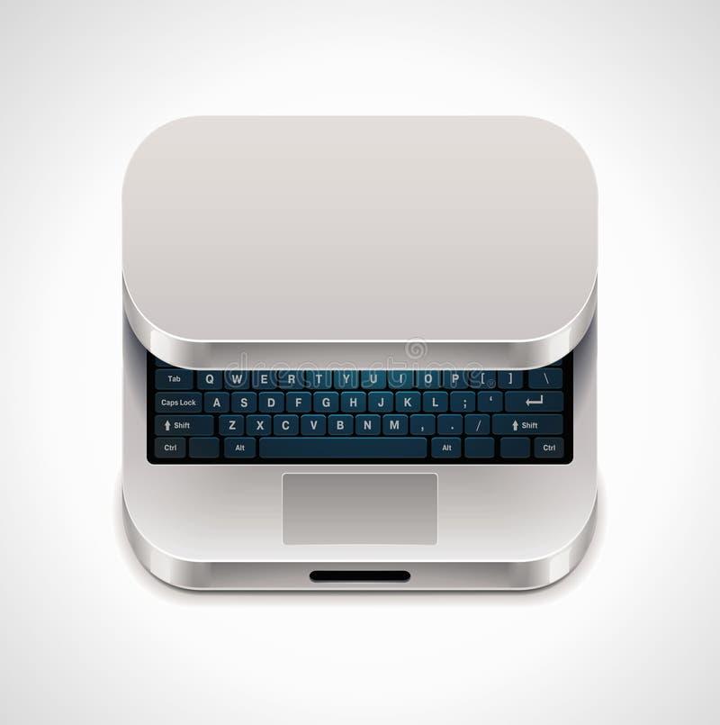 вектор квадрата компьтер-книжки иконы бесплатная иллюстрация