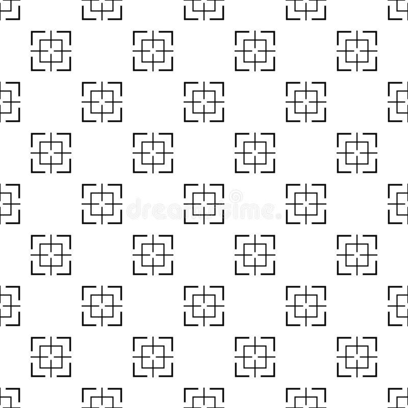Вектор квадратной картины цели безшовный иллюстрация штока