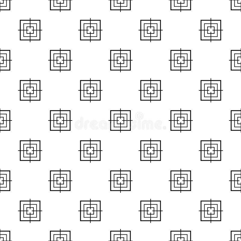 Вектор квадратной объективной картины безшовный иллюстрация вектора