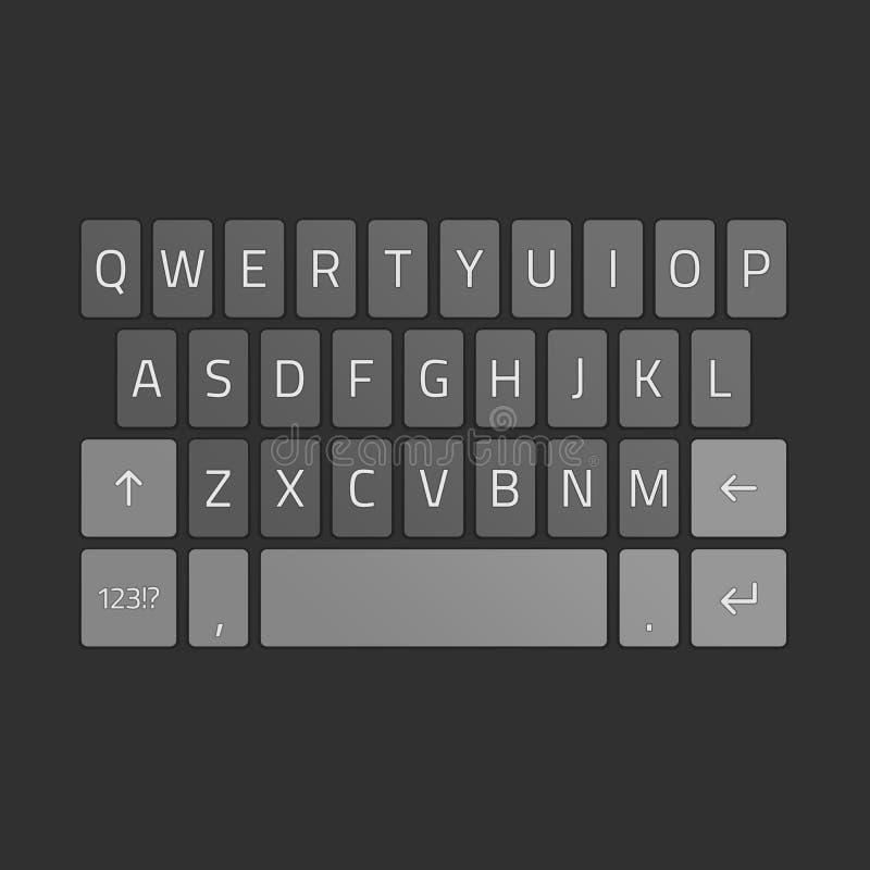 Вектор клавиатуры Smartphone иллюстрация вектора