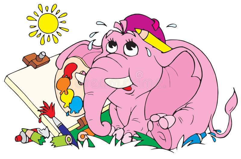 вектор колеривщика слона бесплатная иллюстрация
