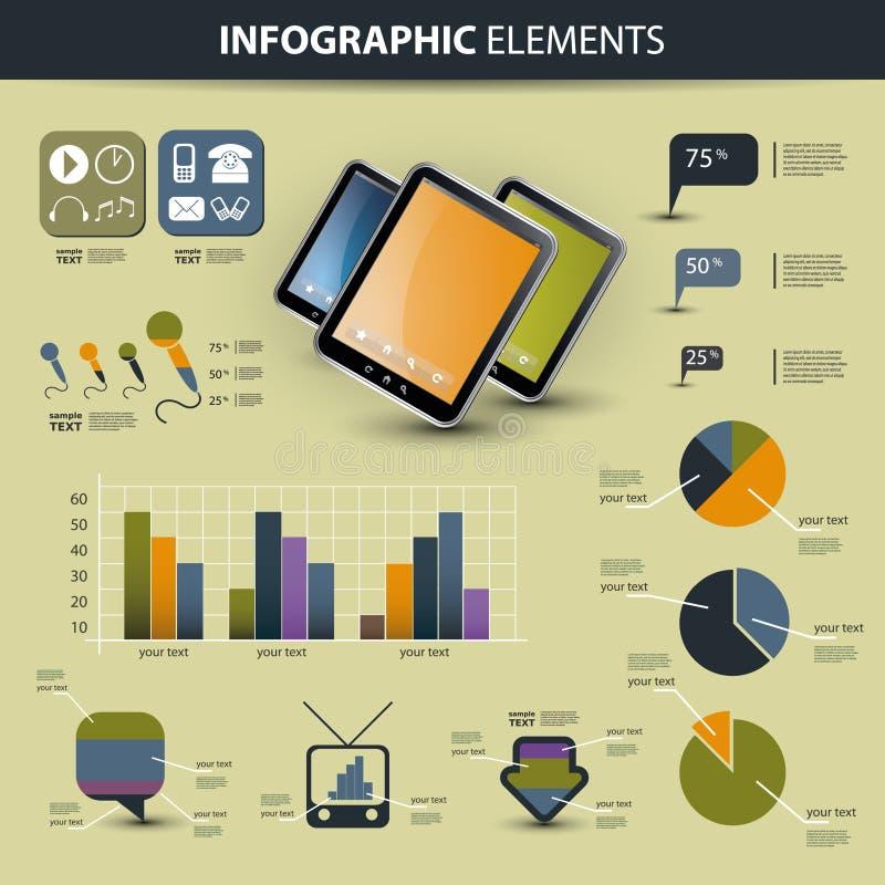 вектор комплекта элементов infographic иллюстрация штока