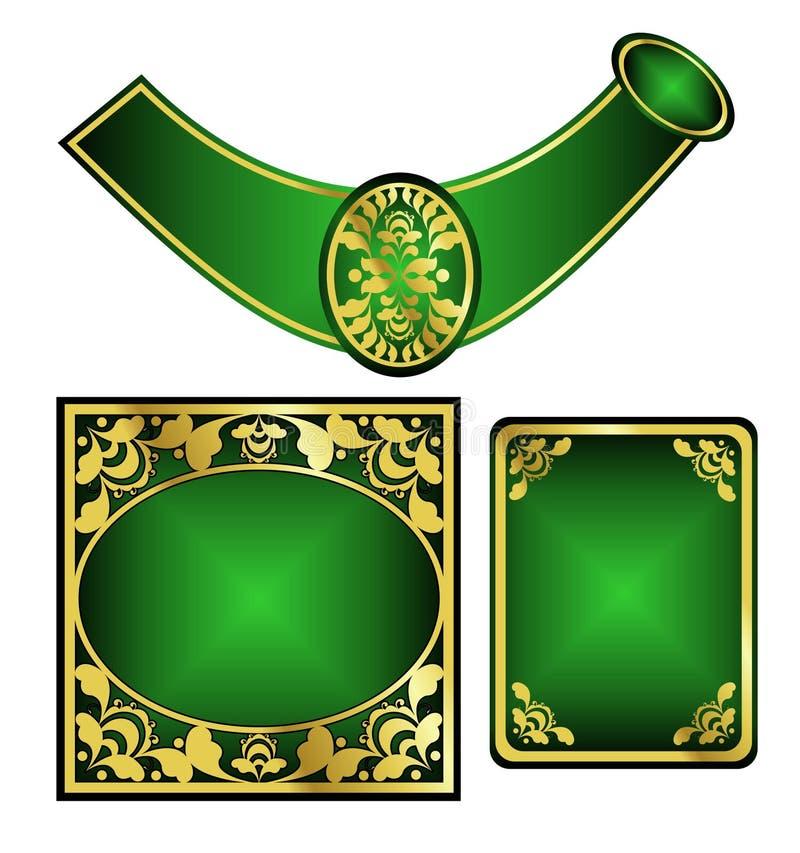 вектор комплекта ярлыка шампанского иллюстрация вектора