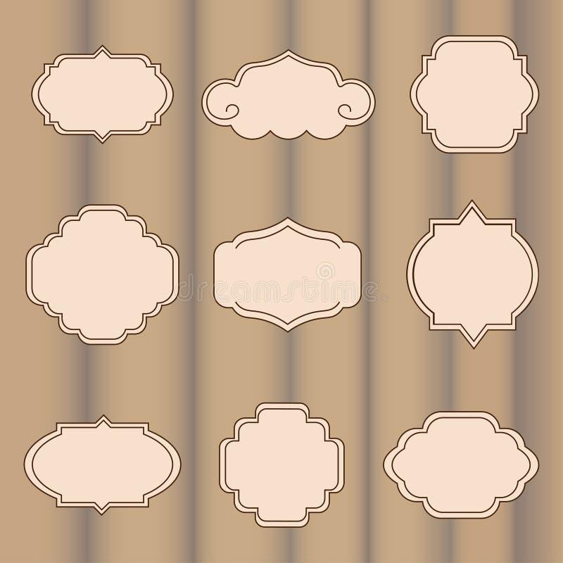 вектор комплекта ярлыков иллюстрация штока
