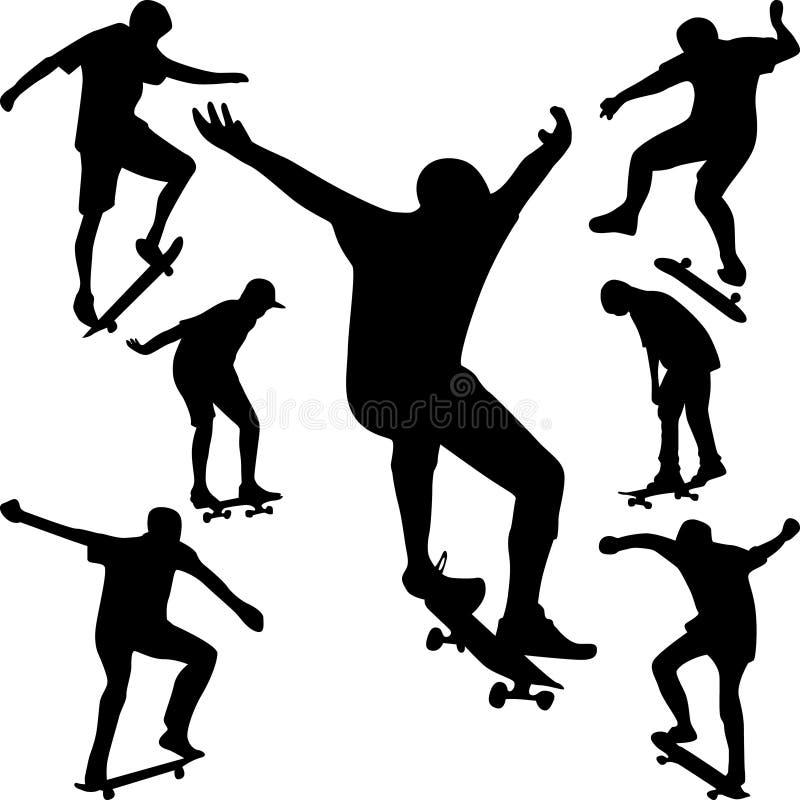 вектор конькобежца силуэта иллюстрация штока