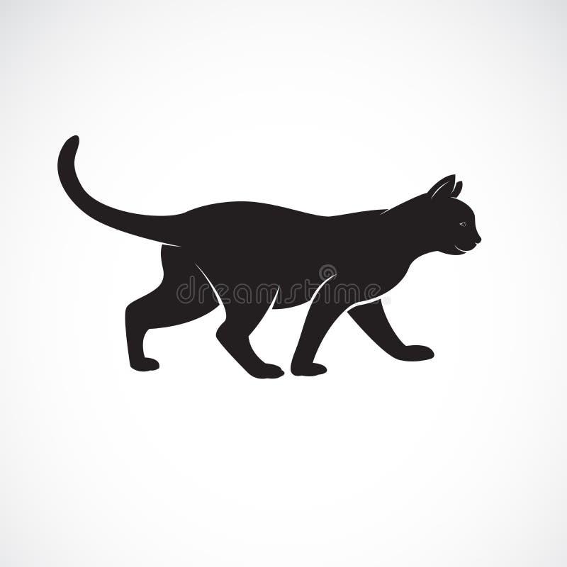 Вектор кота идя на белую предпосылку r angoras Логотип или значок кота Легкая editable наслоенная иллюстрация вектора иллюстрация вектора