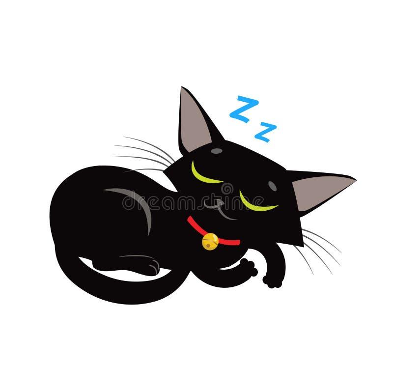 Вектор кота спать Изображение Meme кота спать Игрушка кота спать бесплатная иллюстрация